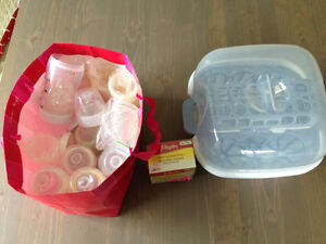 Baby multiple items- bottles, sleep sack, sun shade for car Cambridge Kitchener Area image 1