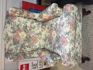 Wingback chair, couch, and matching love seat