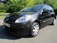 07/57 RENAULT CLIO 1.2 EXPRESSION 5DR HATCH IN BLACK WITH ONLY 66,000 MILES