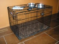 Large Dog Crate with Comfy Flooring Mats