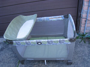 Graco Playpen with Changing table attachment in good condition