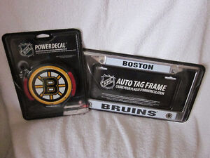 BOSTON BRUINS FRAME & POWER DECAL plus  various items London Ontario image 1