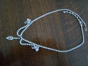 Antique Square Link Rhinestone Necklace