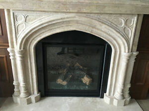 Travertine fireplace surround for sale