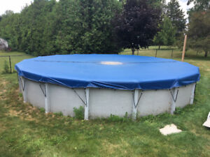 Above ground Pool & heater & pump & filter & cover