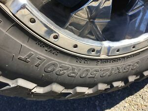 """Used Set of 4 Toyo M/T 35x12.50xR20 Tires"""
