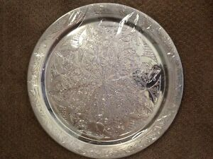 "about 25"" silver art tray"