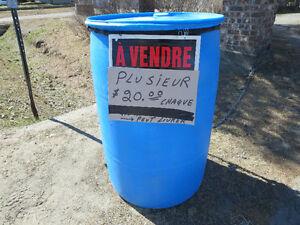 PEUT LIVRER baril 45 gallon plastique drum quai ponton eau pluie