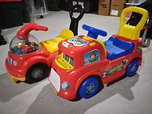 Little People Ride-on / Push cars - $10 EACH