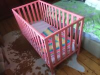 Mothercare Apsley Pink Cot with Mattress