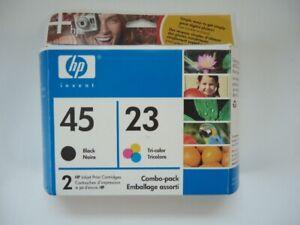HP printer ink 2 pack black 45 colour 23  new sealed package