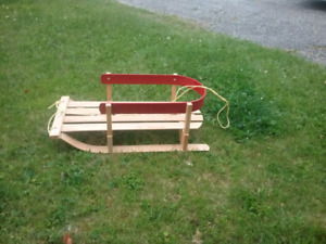 Baby toddler wood sled