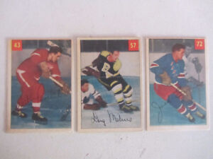 7 Parkhurst hockey cards 1954-55 to 1963-64