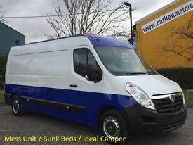 2012/ 62 Vauxhall Movano F3500 L3H2 CDTi 125 [ Mess-Sleeper-Camper-Unit ] van