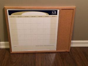 dry erase calendar / cork board
