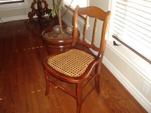 Antique Small Cane Seat Wooden Odd Chair