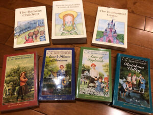 3 classic children's novels, and 4 Anne of green gables books!