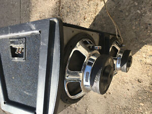 Boss amplifier and a subwoofer