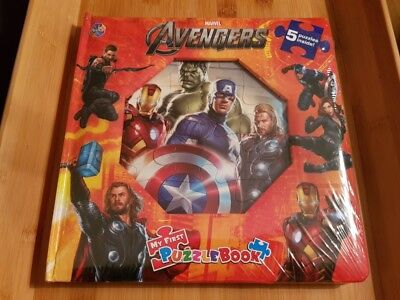 MARVEL AVENGERS MY FIRST PUZZLEBOOK NEW AND SEALED