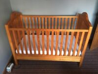Nursery Furniture cot bed and feeding chair