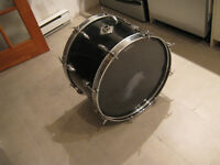 1 Base Drum, 22,, 1 Snare 14 inches