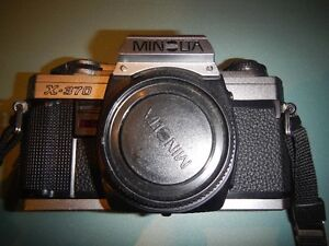Classic Minolta 35mm Film SLR with lenses