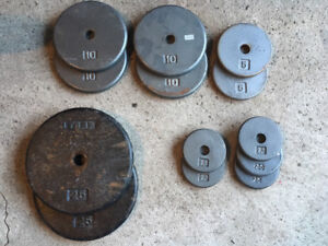 Weight plates 112.5lbs for workout exercise