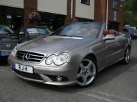 2005 55-Reg Mercedes CLK350 7G-Tronic Sport Convertible,FULL RED OXBLOOD LEATHER
