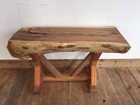 Brand New Solid wood Sideboard / sidetable Half a Log