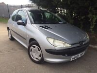 Peugeot 206 1.1 12 months M.O.T, 1 owner from new