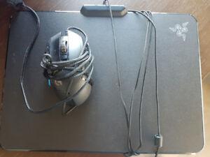 Razer Chroma Firefly Mat & Logitech G502 wired mouse