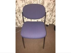 8 x Navy Blue Stacking Meeting Chairs