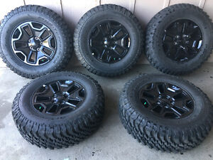 New Jeep Wrangler tires and rims all terrain