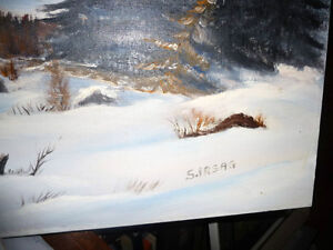 """Winter Trail"" Original Oil by S. Irsag Stratford Kitchener Area image 5"