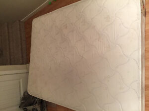 Double mattress and memory-foam topper