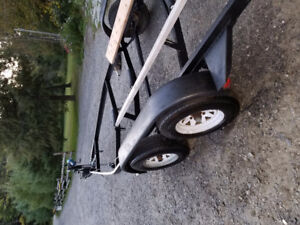 Tandem boat trailer with new roller Jack