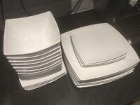 2 x TU for Sainsbury's White Square Dinner Sets