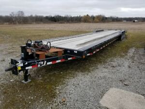 45 foot flatbed trailer (2013), 21000 gvwr, 3x7000 lb axles