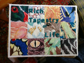 Tapestry picture unframed FREE