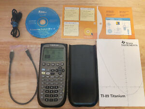 TI-89 Titanium Graphing Calculator w/ 4xAAA batt and accesories