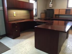 "Beautiful ""Krug"" Cherry Executive Desk"