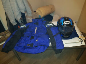 Teknic jacket and Arai helmet for sale