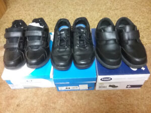 Men's shoes, sandals,  winter boots. Mostly Velcro for seniors.