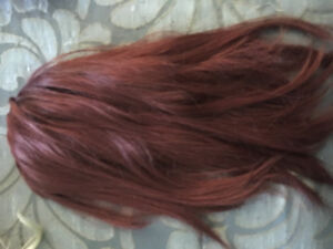 Red with Bangs Long Layered Synthetic Wig Hair