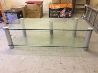 Glass tv and DVD stand
