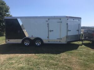 Enclosed V-Nose Cargo trailer for sale.