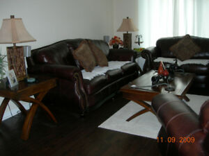 living room set leather