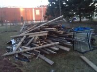 Deck wood for free