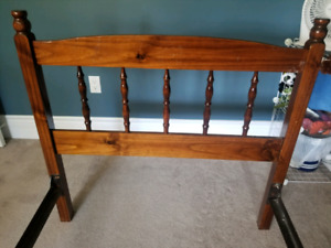 Twin bed,  frame and headboard