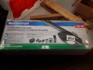 B/N Mastercraft 3/4hp belt drive Garage Door Opener.